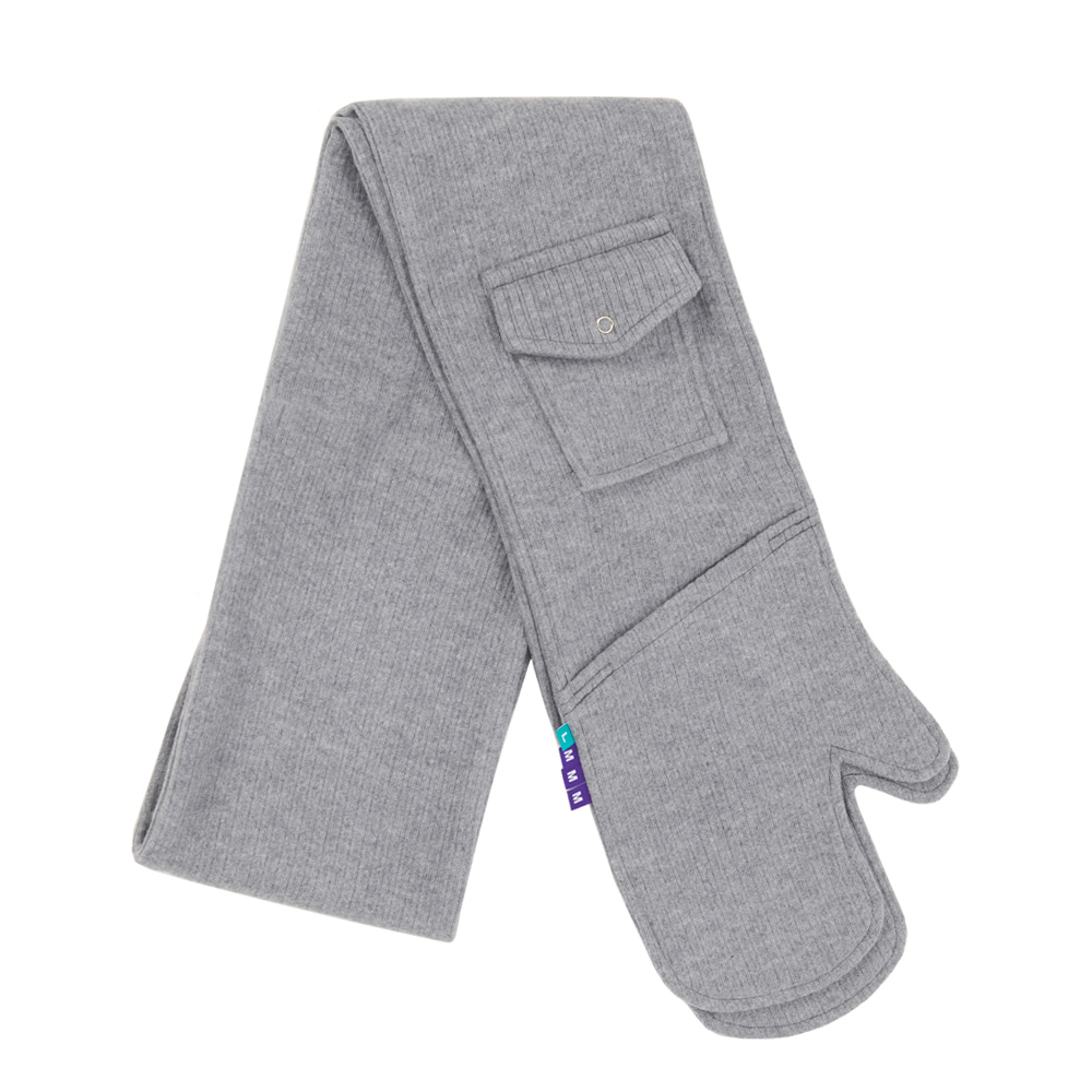 LMMM GLOVES MUFFLER GREY